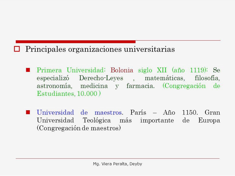 Principales organizaciones universitarias