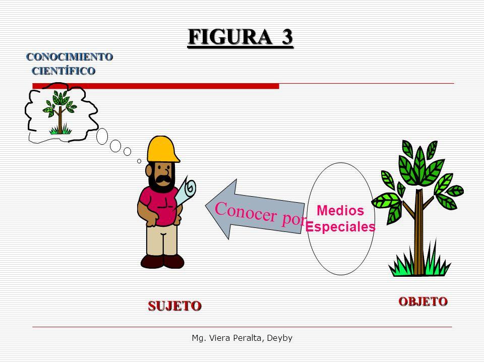 FIGURA 3 Conocer por SUJETO Medios Especiales OBJETO CIENTÍFICO