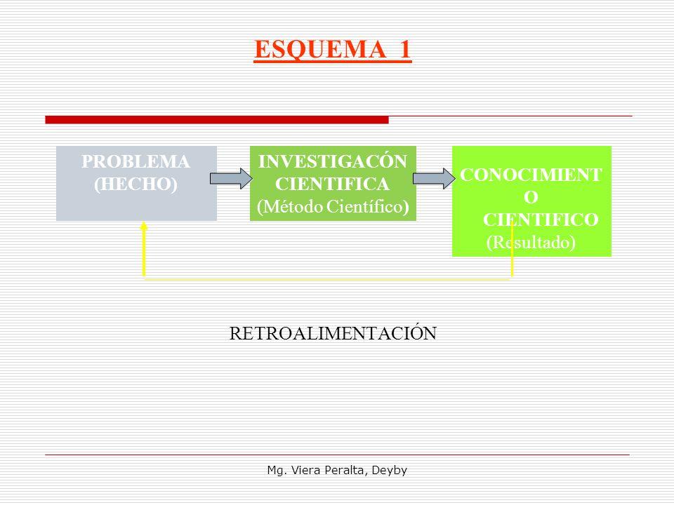 ESQUEMA 1 RETROALIMENTACIÓN PROBLEMA (HECHO) INVESTIGACÓN CIENTIFICA