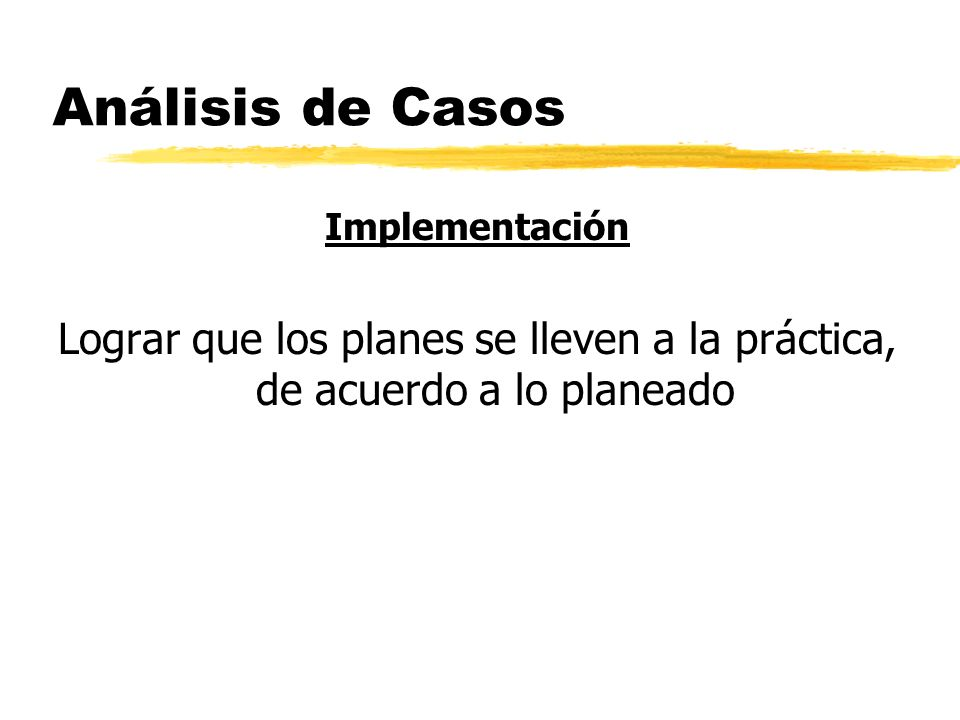 Análisis de Casos Implementación.