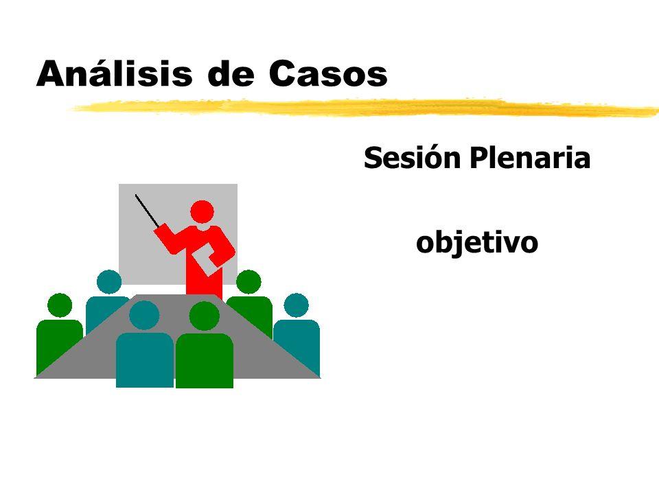 Análisis de Casos Sesión Plenaria objetivo