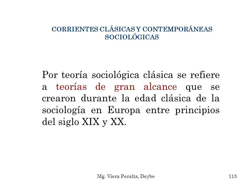 CORRIENTES CLÁSICAS Y CONTEMPORÁNEAS SOCIOLÓGICAS