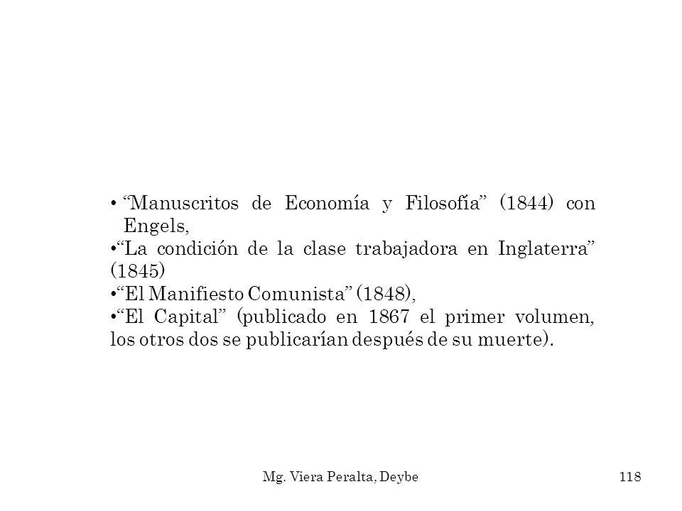 Manuscritos de Economía y Filosofía (1844) con Engels,