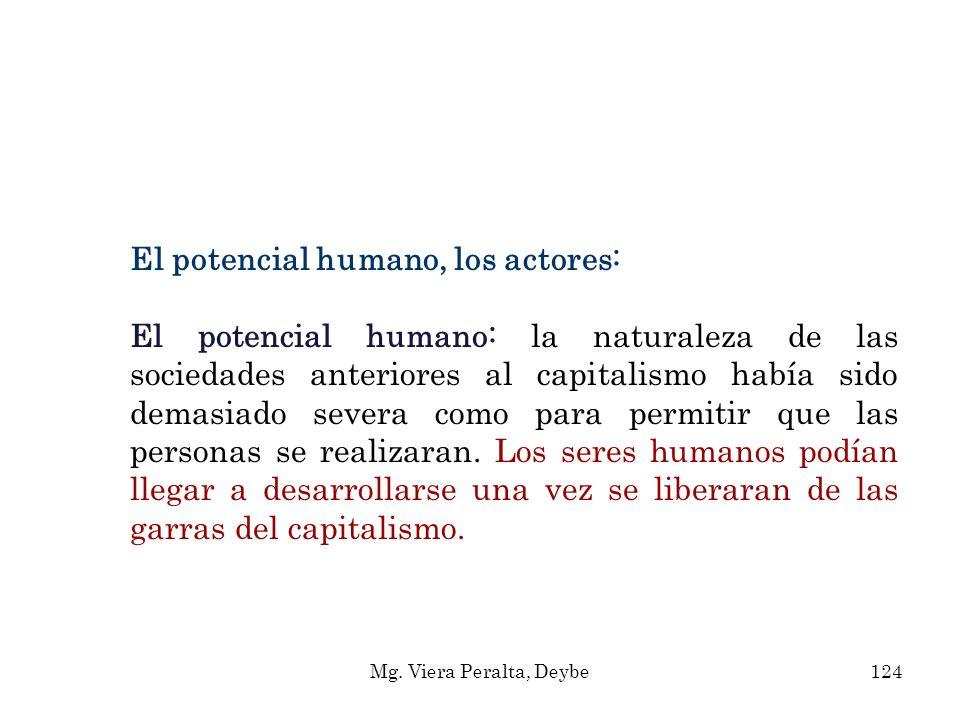 El potencial humano, los actores: