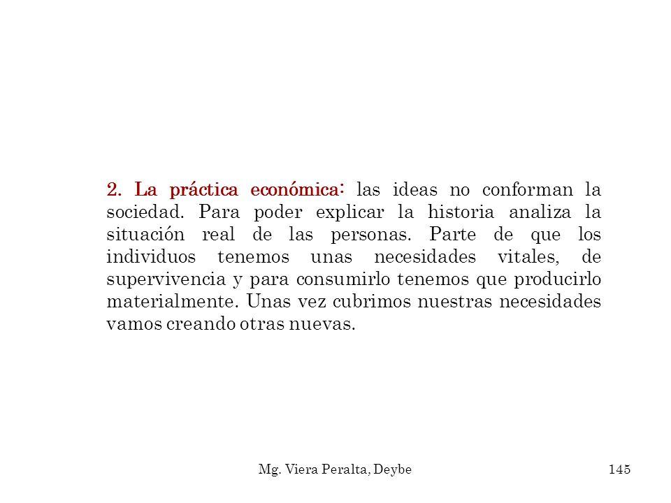 2. La práctica económica: las ideas no conforman la sociedad