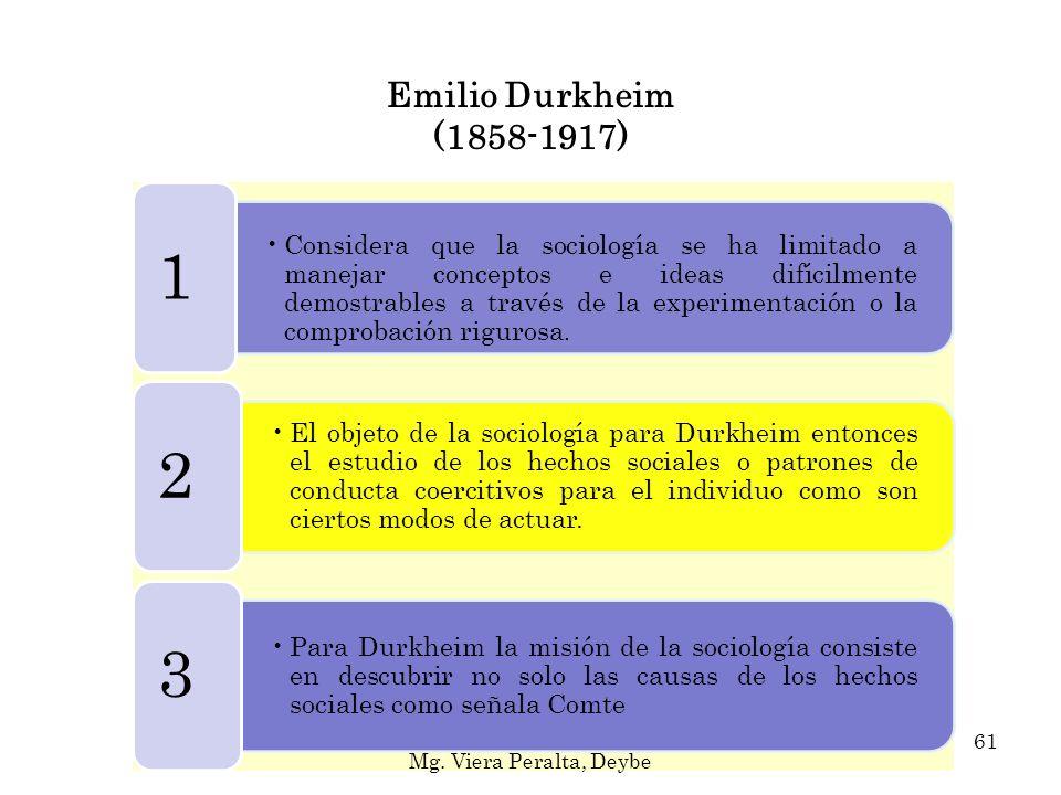 Emilio Durkheim (1858-1917) 1.