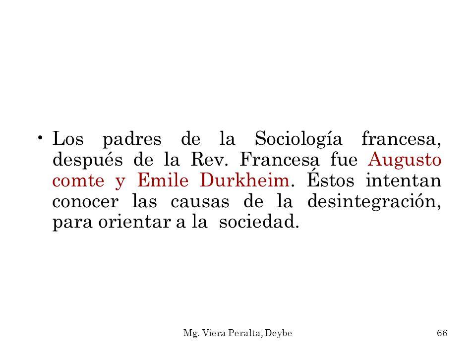 Los padres de la Sociología francesa, después de la Rev