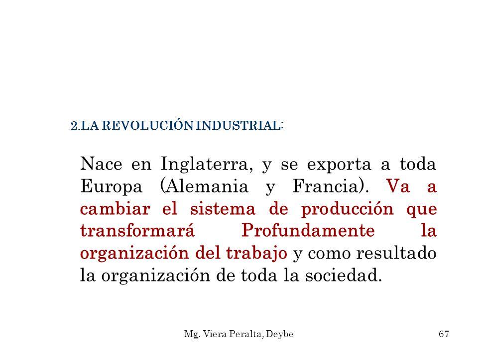 LA REVOLUCIÓN INDUSTRIAL: