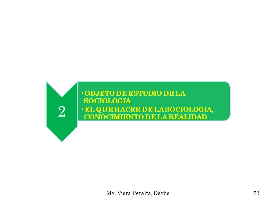 2 OBJETO DE ESTUDIO DE LA SOCIOLOGIA.