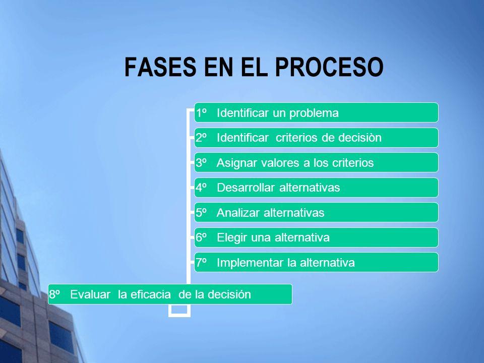 FASES EN EL PROCESO