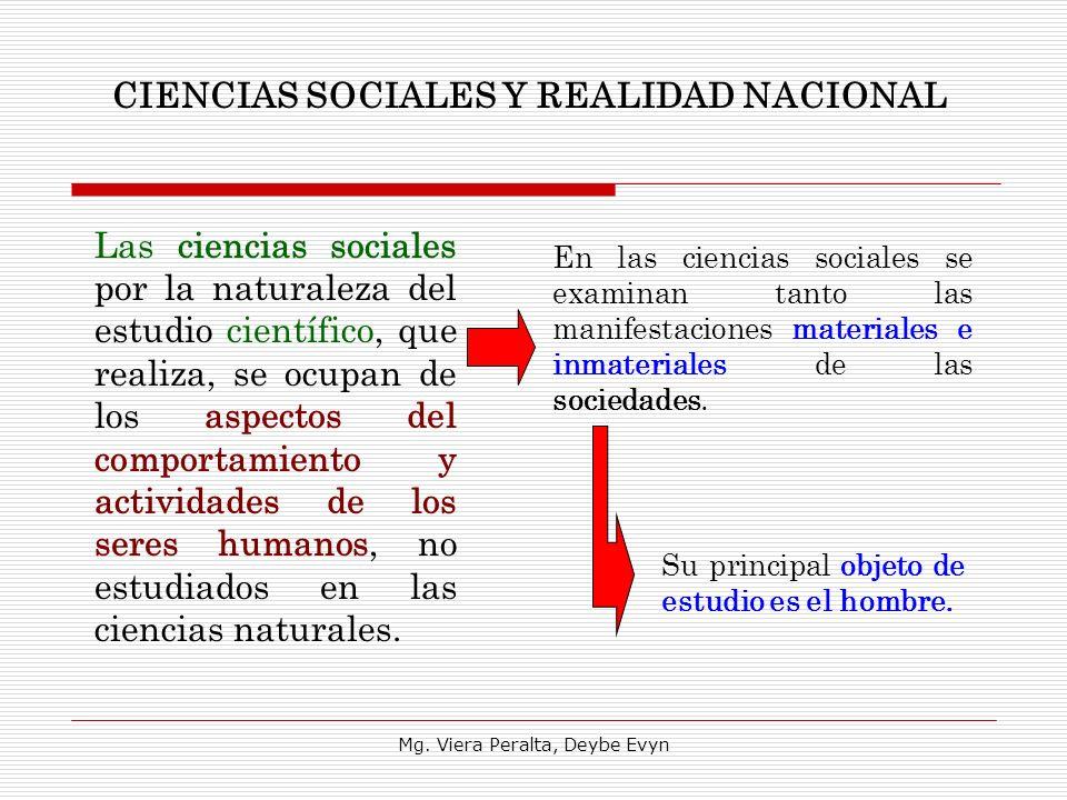 CIENCIAS SOCIALES Y REALIDAD NACIONAL