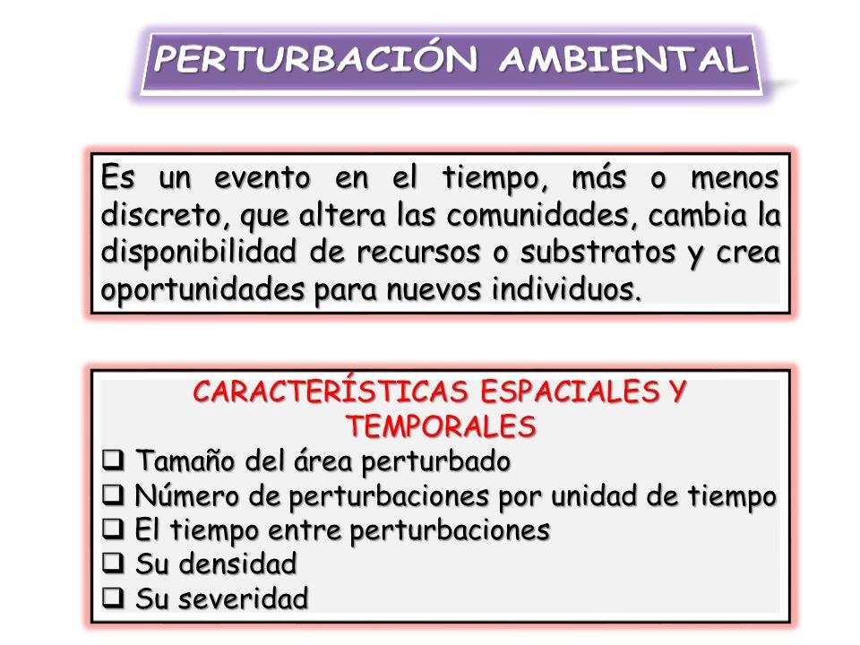 PERTURBACIÓN AMBIENTAL