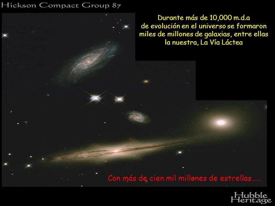 Con más de cien mil millones de estrellas…..