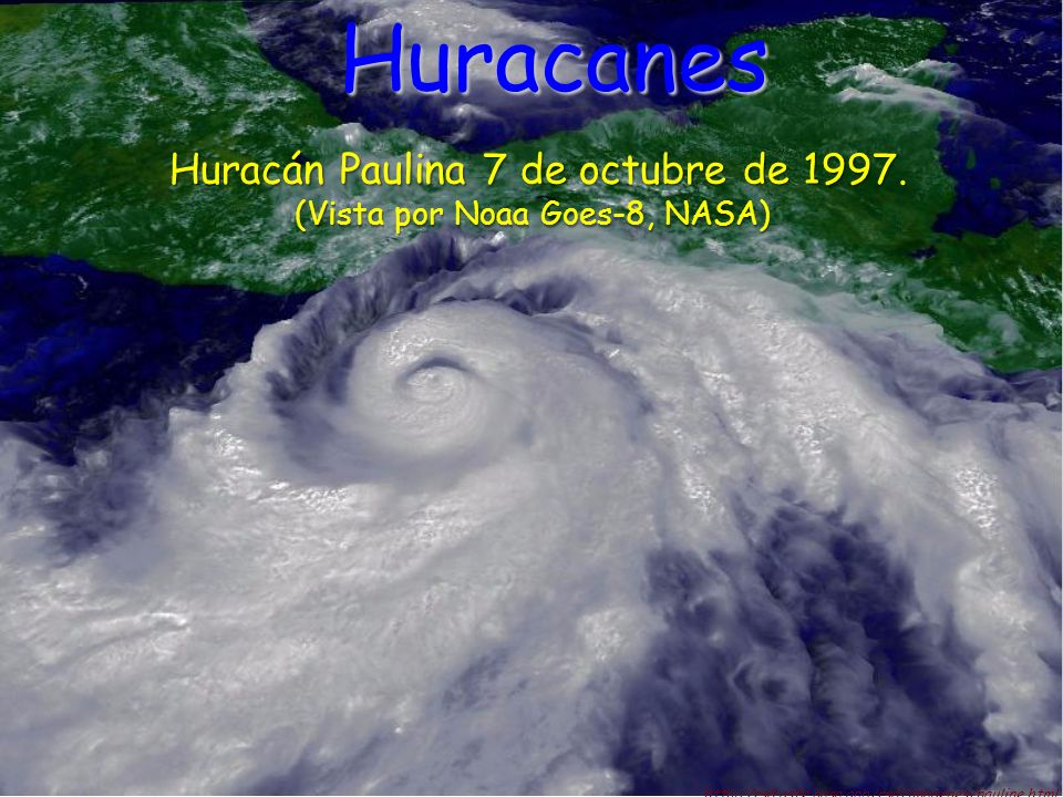 Huracanes Huracán Paulina 7 de octubre de 1997.