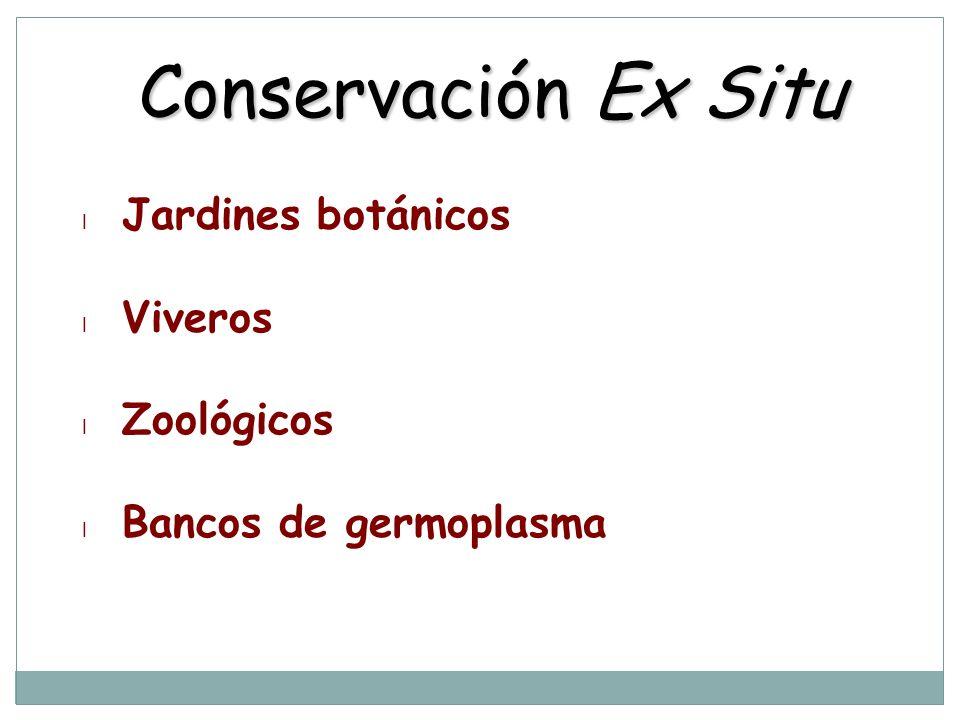 Conservación Ex Situ Jardines botánicos Viveros Zoológicos