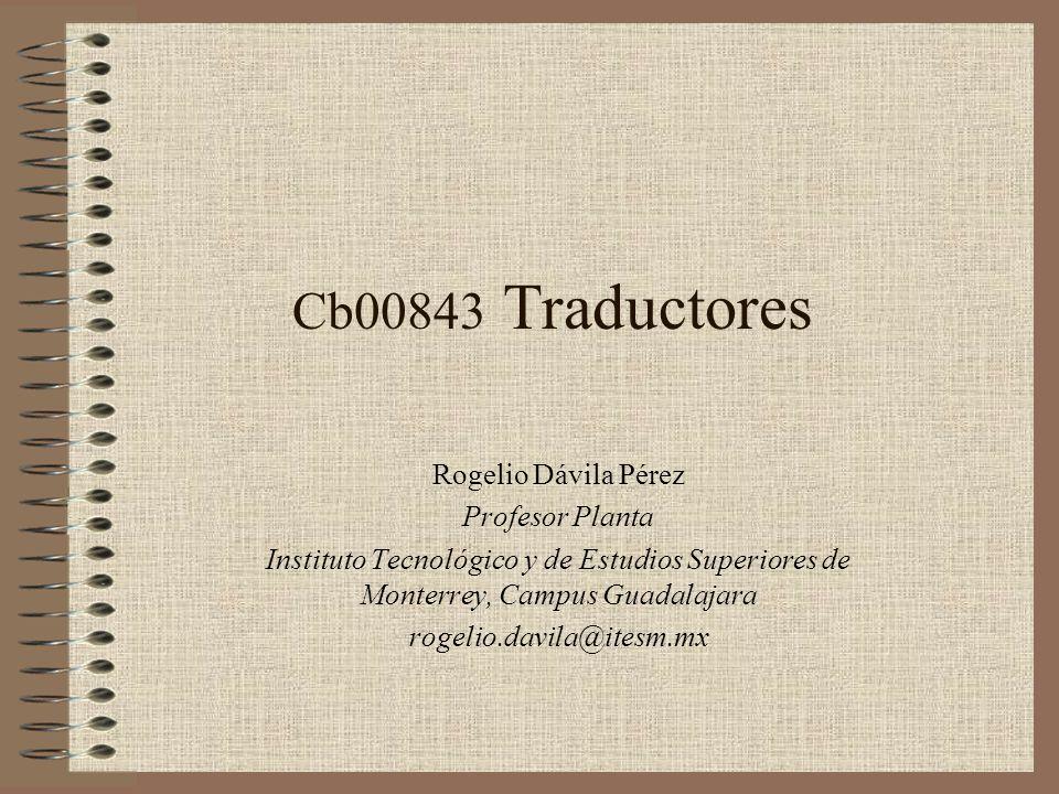 Cb00843 Traductores Rogelio Dávila Pérez Profesor Planta