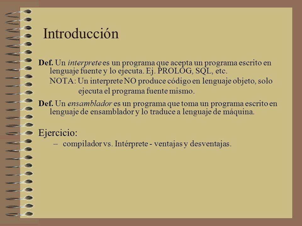 Introducción Ejercicio: