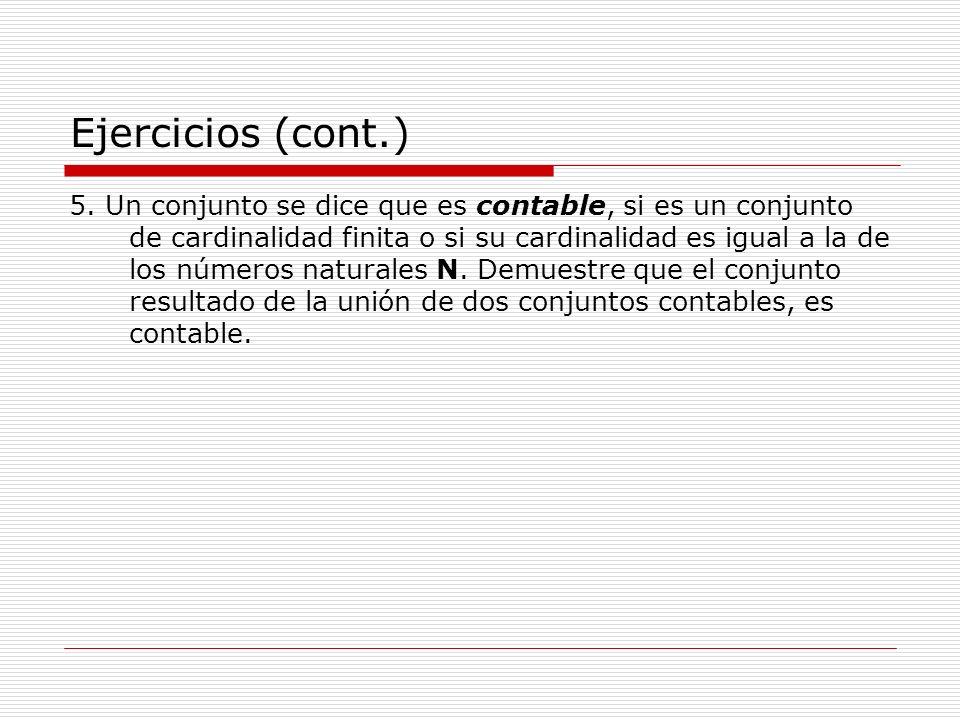 Ejercicios (cont.)