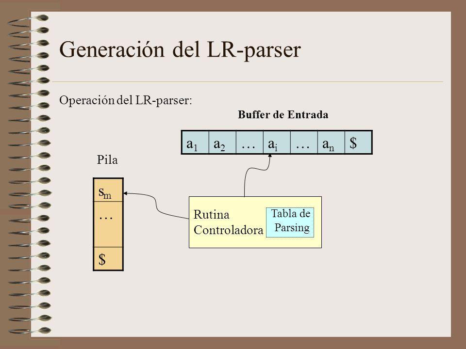 Generación del LR-parser