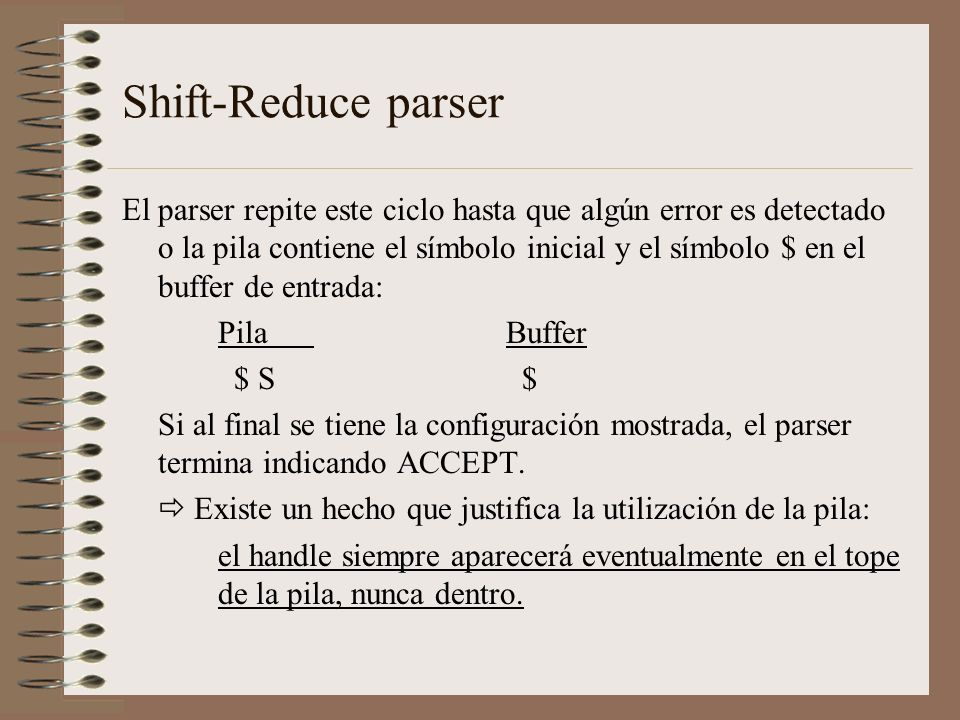 Shift-Reduce parser