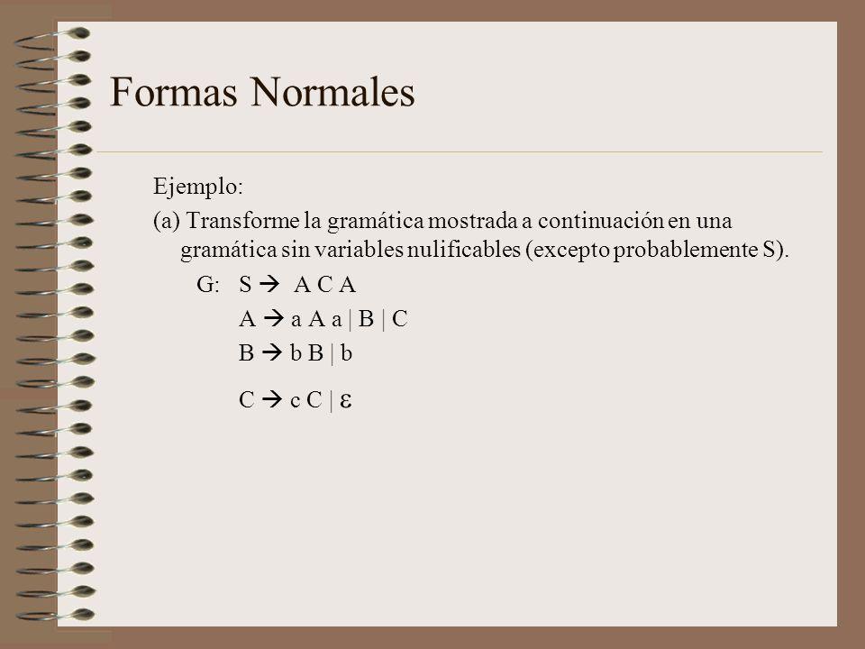 Formas Normales Ejemplo: