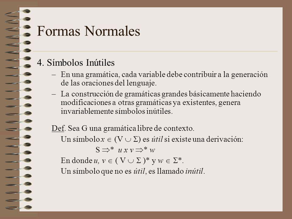 Formas Normales 4. Símbolos Inútiles