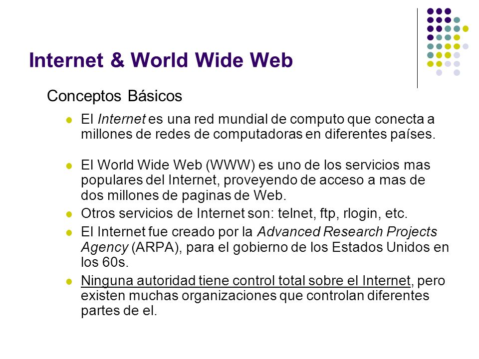 Internet & World Wide Web