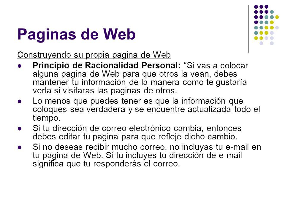 Paginas de Web Construyendo su propia pagina de Web