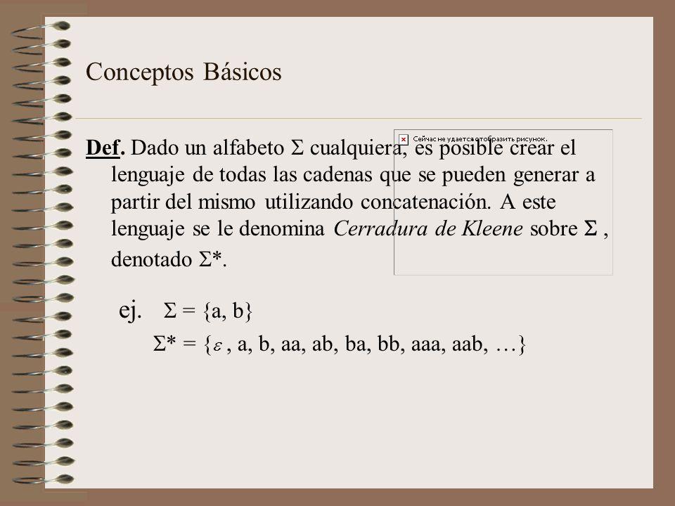 Conceptos Básicos ej.  = {a, b}