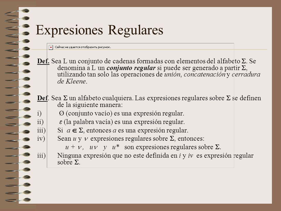 Expresiones Regulares