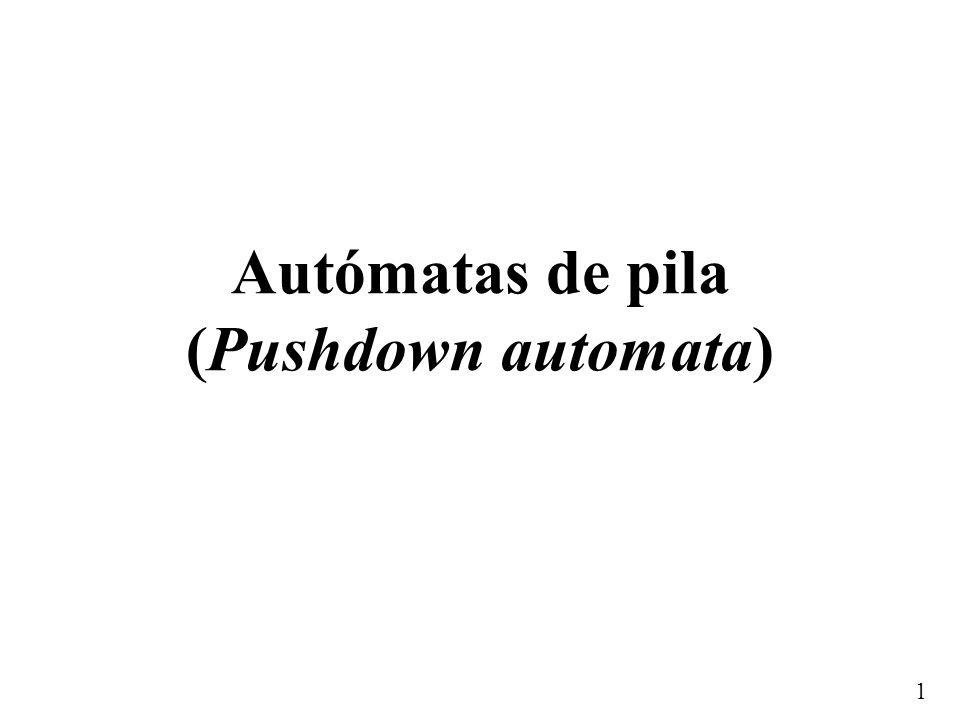 Autómatas de pila (Pushdown automata)