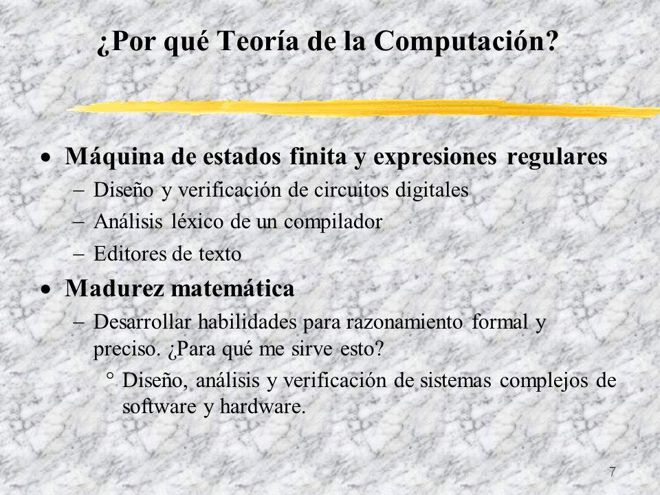 ¿Por qué Teoría de la Computación