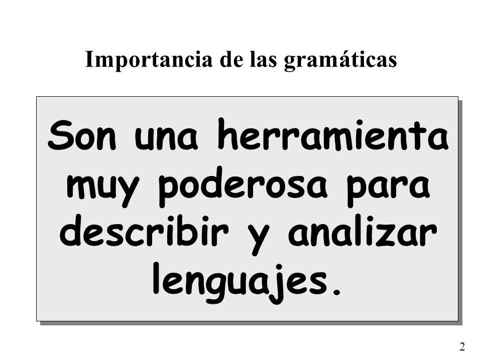 Importancia de las gramáticas