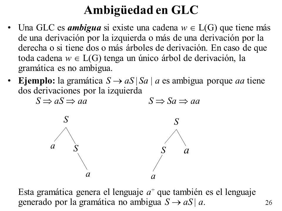 Ambigüedad en GLC
