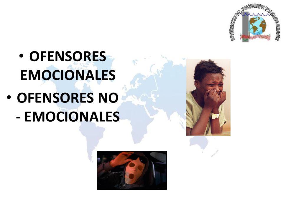 OFENSORES EMOCIONALES OFENSORES NO - EMOCIONALES
