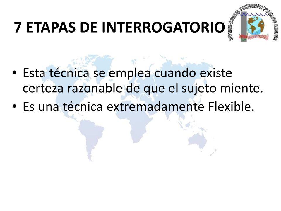 7 ETAPAS DE INTERROGATORIO