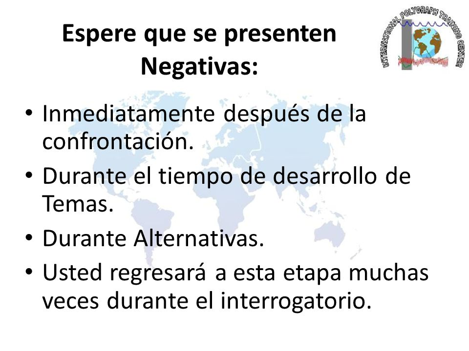 Espere que se presenten Negativas: