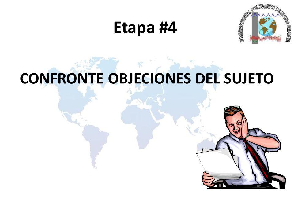 CONFRONTE OBJECIONES DEL SUJETO
