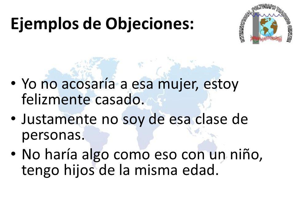 Ejemplos de Objeciones: