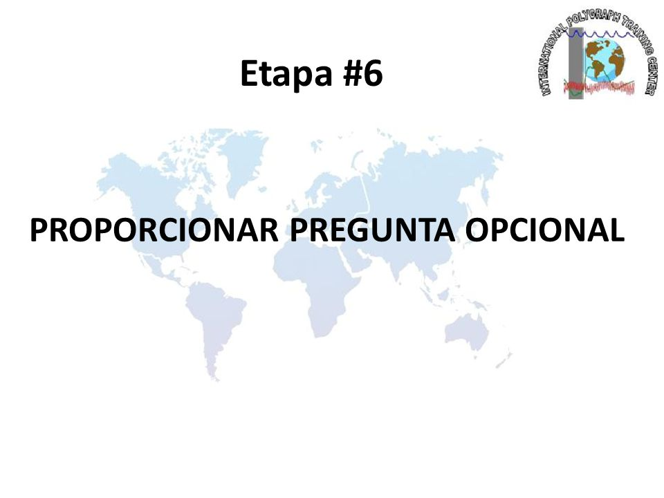 PROPORCIONAR PREGUNTA OPCIONAL