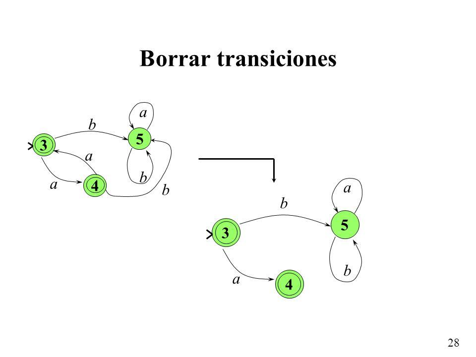 Borrar transiciones a b 5 3 a b a 4 b a b 5 3 b a 4