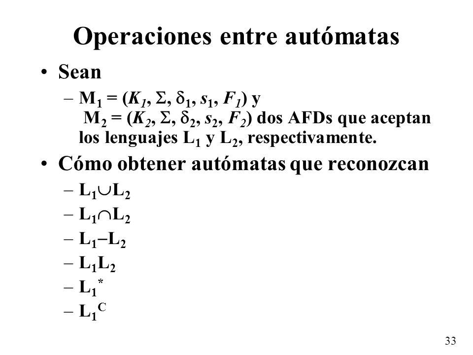 Operaciones entre autómatas