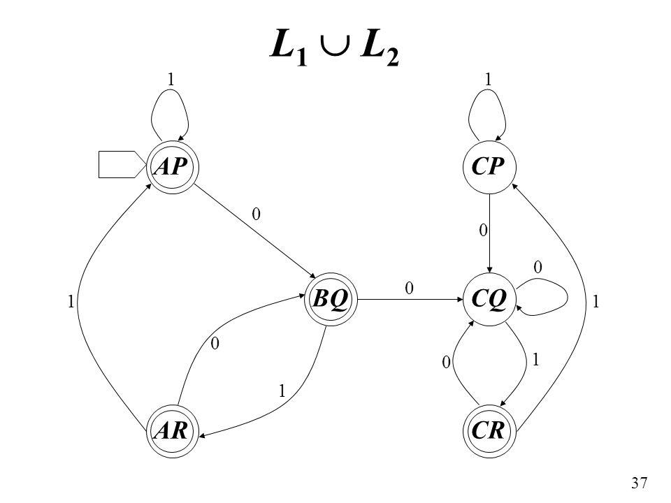 L1  L2 AP AR BQ CP CQ CR 1