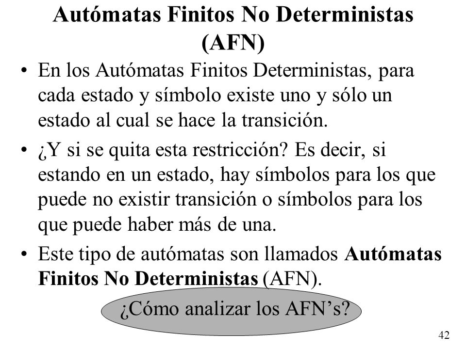 Autómatas Finitos No Deterministas (AFN)