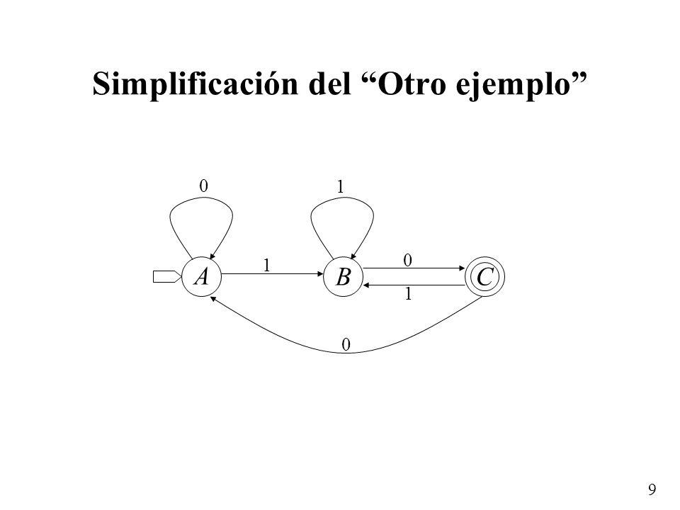 Simplificación del Otro ejemplo