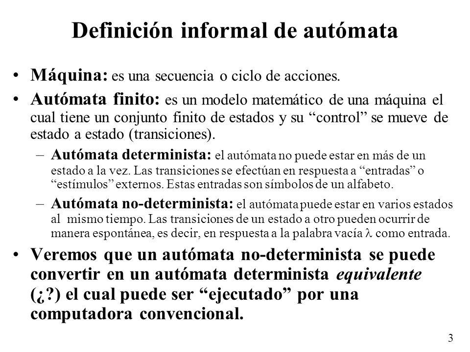 Definición informal de autómata