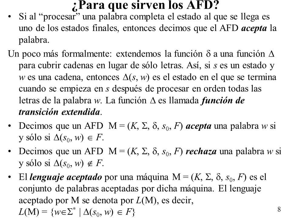 ¿Para que sirven los AFD