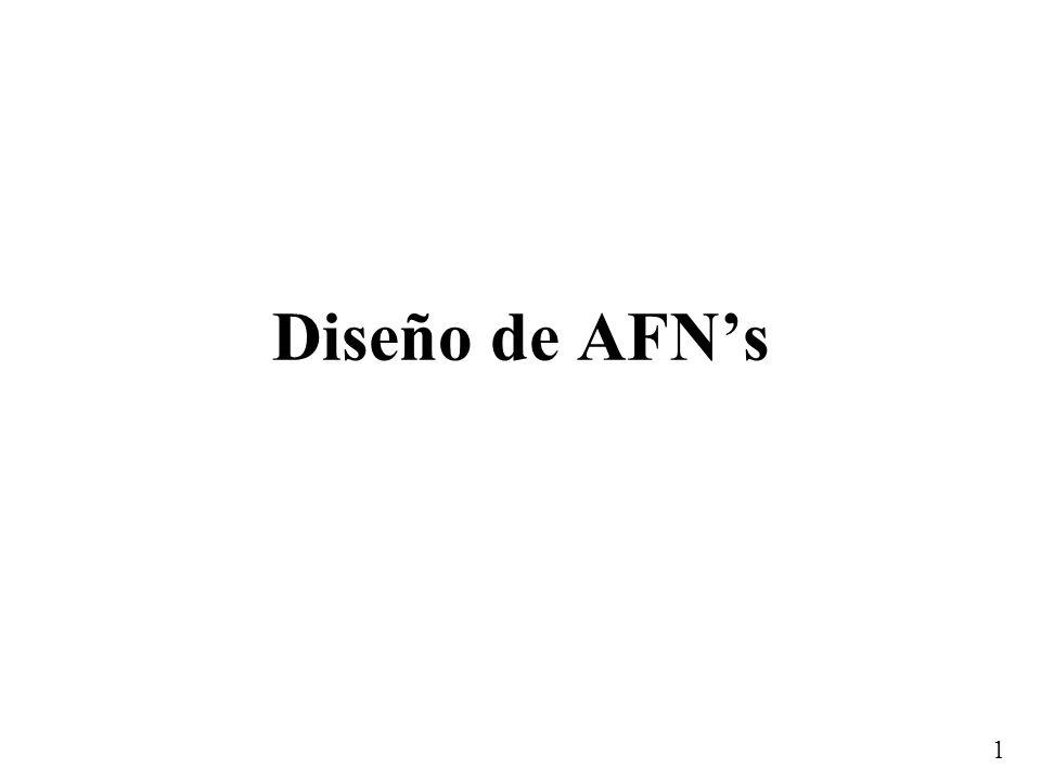 Diseño de AFN's