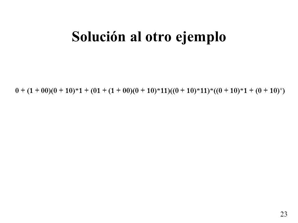 Solución al otro ejemplo