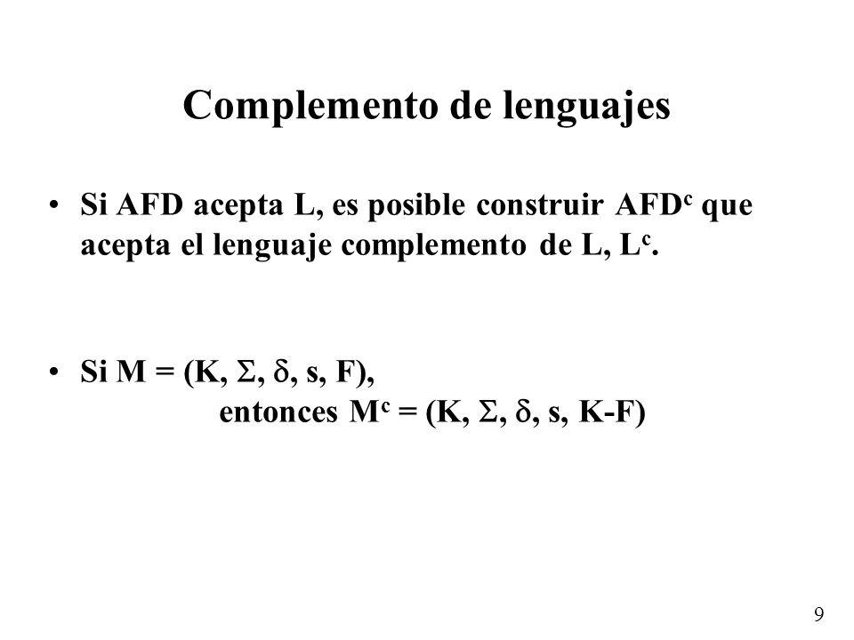 Complemento de lenguajes